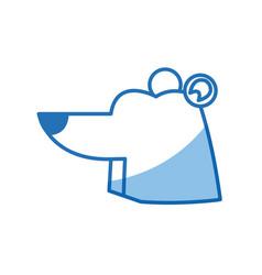 Cartoon bear animal winter wildlife vector