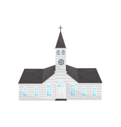 catholic church building on a vector image