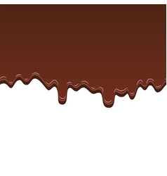 chocolate seamless pattern drip dark chocolate vector image