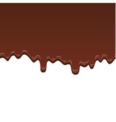 chocolate seamless pattern drip dark vector image