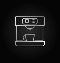 coffee machine silver linear icon vector image