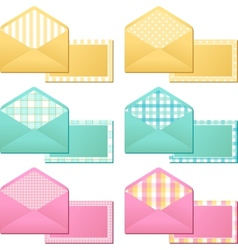collection old vintage envelopes vector image