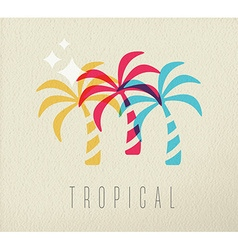 Colorful palm tree summer concept background vector image