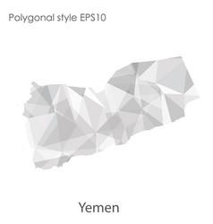 Ctor isolated icon yemen map polygonal vector