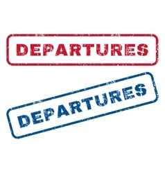 Departures Rubber Stamps vector