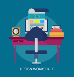 design workspace conceptual design vector image