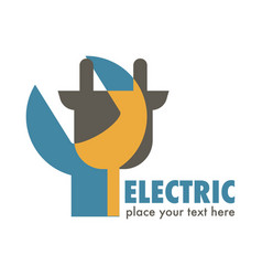 Electric services or station electricity isolated vector