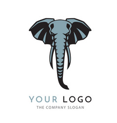 elephant sign logo emblem -02 vector image