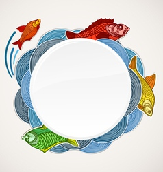 Fish template vector image