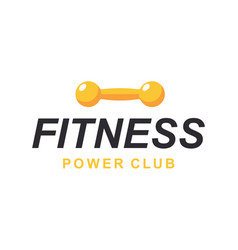 fitness gym logo sign emblem template vector image
