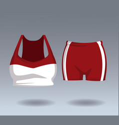 Fitness top and short wear vector