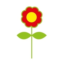 flower colorfull isolated icon design vector image