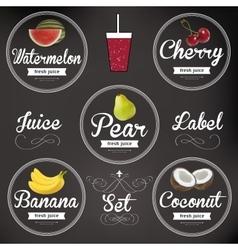 Fruit juice Detailed label set vector