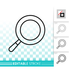 frying pan simple black line icon vector image