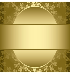 gold card with gold pattern vector image
