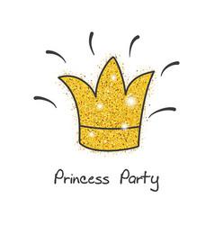 Gold princess party decor gold princess party vector