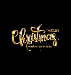 golden text on black background vector image vector image