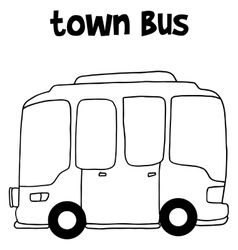 Hand draw of town bus vector image