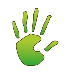 Hand print icon image vector