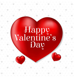 happy valentines day card with heart and pattern vector image