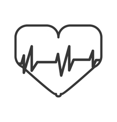 Heart and cardio icon Bodybuilding design vector