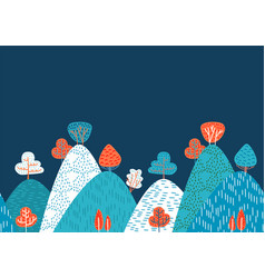 horizontal seamless doodle background with vector image