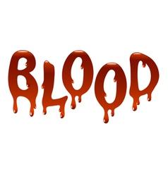 Inscription blood vector image