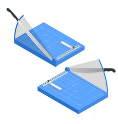 isometric paper cutter isolated on white vector image