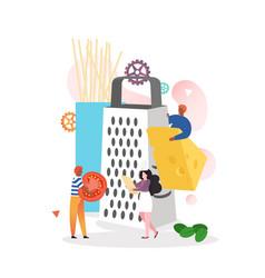 Italian cuisine concept for web banner vector