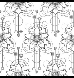 lotus modern seamless pattern vector image