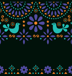 mexican folk art greeting card invitation vector image