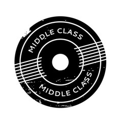 Middle class rubber stamp vector