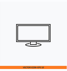 monitor icon flat line style eps 10 style vector image