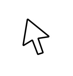 mouse cursor symbol - arrow click pointer vector image