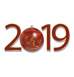 New year 2019 beautiful template traditional vector