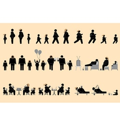 Obese people and good appetite pictogram vector image