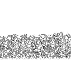 oriental wave seamless wallpaper vector image