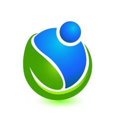 people caring and helping the environment icon vector image