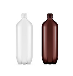 Pet plastic clean disposaple bottle on white vector