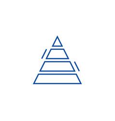 pyramid chart line icon concept pyramid chart vector image