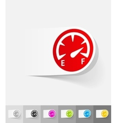 Realistic design element speedometer vector