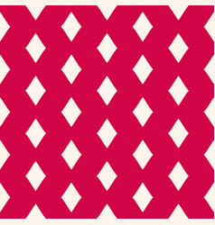 Red geometric seamless pattern with rhombuses vector