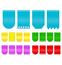 ribbon tags vector image