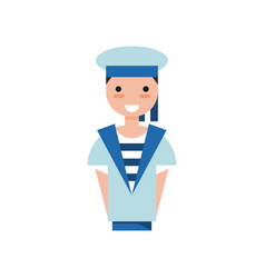 sailor boy character in blue uniform vector image