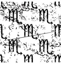 Scorpio pattern grunge monochrome vector image