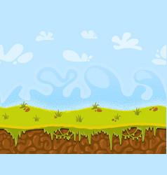 Seamless cartoon fantastic landscape vector