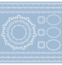 Set collections vintage lacy borders and frames vector