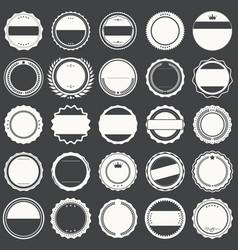 set empty retro vintage badges 2 vector image