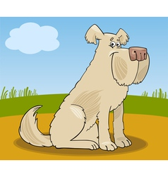 Sheepdog shaggy dog cartoon vector image