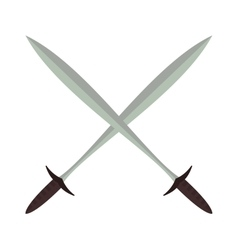 Short knife creative and cartoon vector image